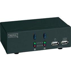 Przełącznik KVM VGA, Digitus DC-11403, USB, 1920 x 1440 px, Ilość przełączalnych PC: 2