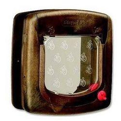 Brązowe drzwi z przezroczystą klapką 320 1 szt.