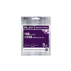 Starter PLAY 1 GB na start 3 GB gratis przez rok 9 PLN