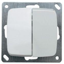 Wyłącznik kołyskowy seryjny 102034, czysta biel