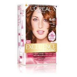 Excellence Creme farba do włosów 6.41 Light Amber Brown Jasny bursztynowy brąz