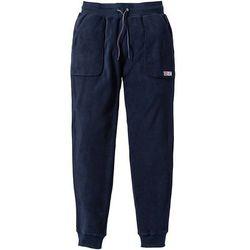 Spodnie z polaru bonprix ciemnoniebieski