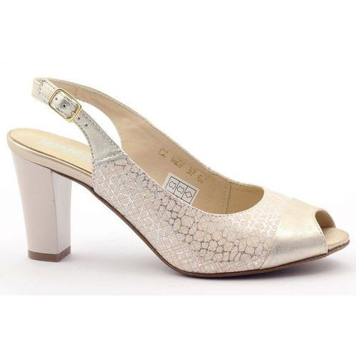 Sandały damskie odkryte palce Gamis złote