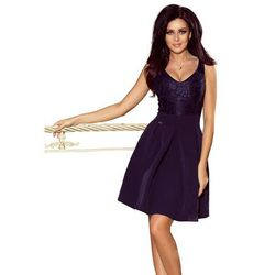cd6f76c11a suknie sukienki granatowa sukienka modesta (od Granatowa Codzienna ...