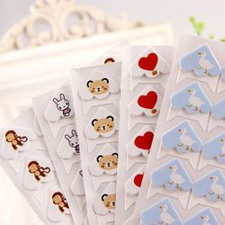 24 pcs/lot DIY Cartoon Corner Cute Paper Stickers for Photo Albums Frame Decoration Scrapbooking