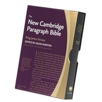 New Cambridge Paragraph Bible, Black Calfskin Leather, KJ595:T Black Calfskin