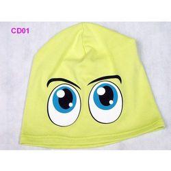 Czapka Dziecięca Bawełna Oczy beanie krasnal ciamajda - CD01