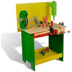vidaXL Drewniany stół warsztatowy dla dzieci z narzędziami 33 części Darmowa wysyłka i zwroty