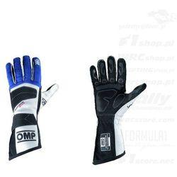 Rękawice rajdowe OMP TECNICA EVO niebieskie (homologacja FIA)