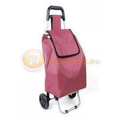 Wózek zakupowy bordowy torba na zakupy na kółkach dla seniora