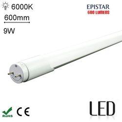 LED 60CM T8 9W 6000K SC Świetlówka LED zimna 600mm G13 o mocy 9W 600 lumenów 6000K