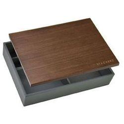 Pudełko na biżuterię z drewnianą pokrywką Stackers