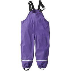 Spodnie przeciwdeszczowe ocieplane bonprix lila