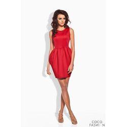 Czerwona Koktajlowa Sukienka Bombka