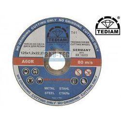 TARCZA TARCZE DO CIĘCIA METALU 125x1,2x22,2 TEDIAM