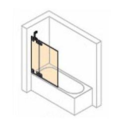 Parawan nawannowy 2- częściowy ze stałym segmentem Huppe Studio Paris lewy , chrom mat, szkło przeźroczyste PR0429.E05.321