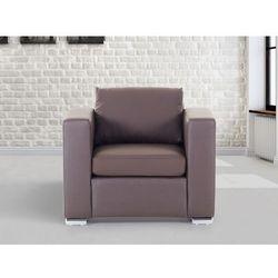 Skórzany fotel brazowy - sofa - HELSINKI