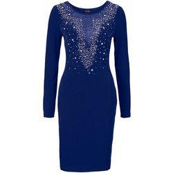 Sukienka wieczorowa bonprix kobaltowy