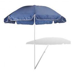 Parasol plażowy, niebieski (240cm). Zapisz się do naszego Newslettera i odbierz voucher 20 PLN na zakupy w VidaXL!