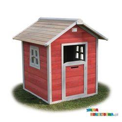Domek dla dzieci do ogrodu EXIT Beach 100 czerwono - brązowy