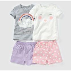 Piżama z krótkimi spodenkami z dzianiny, z nadrukiem 2-12 lat (komplet 2szt.)