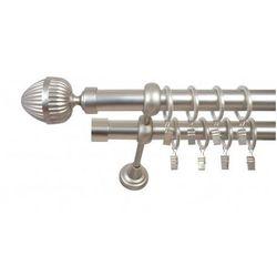 Karnisz Podwójny ELZA Ø25/19 mm Milano : dlugosc karniszy - 340 cm, Rodzaj - Metalowy, typ karnisza - Podwójny, Kolor Karnisza - Chrom, Mocowanie - Ścienne