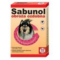 DermaPharm Sabunol Obroża przeciw pchłom dla psa ozdobna różowa 50cm