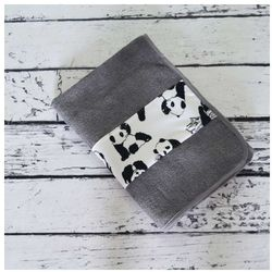 Bambusowy Ręcznik dla Dzieci, Mio&Moo / Szary, 50x100 cm, CAMPHORA STUDIO