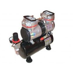 Dwutłokowy kompresor z zbiornikem ciśnieniowym Fengda® AS-196
