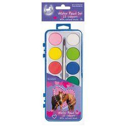 Farby akwarelowe STARPAK 12 kolorów z pędzelkiem Konie