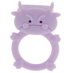 Wibrujący pierścień na penisa świecący byczek