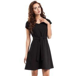 94a0f6f302 suknie sukienki sukienka z guzikami i zlotym paskiem (od Czerwona ...