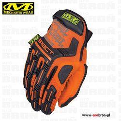 Rękawice taktyczne Mechanix M-Pact HI-VIZ ORANGE (SMP-99) - dla strzelców, na rower, doskonała ochrona, fluorescencyjne