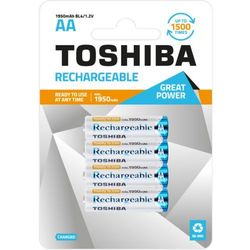 TOSHIBA Akumulatory Rechargeable AA R6 min. 1950mAh TOSHIBA AKU R6 1950mAh AA