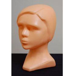 c54fdb01bef3d0 Głowa damska, plastikowa z włosami (czesana na bok) - w kolorze cielistym