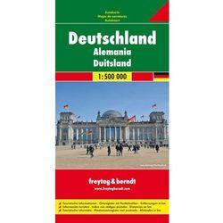 Niemcy mapa 1:500 000 Freytag & Berndt (opr. twarda)