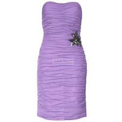 Klasyczna drapowana sukienka z szyfonu Arena Stylu, wrzos 924 -3