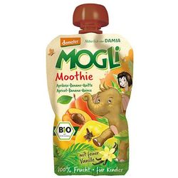 Moothie - przecier morelowy z bananem, pigwą, wanilią 100% owoców bez dodatku cukru bio 100 g - mogli