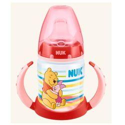 Butelka NUK FC DISNEY Kubuś Puchatek 150 ml z podwójnym uchwytem, z ustnikiem silikonowym - 6-18 m - czerwona