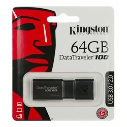Pendrive Kingston 64GB DataTraveler 100 G3 - USB 3.0