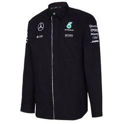 Koszula męska longsleeve czarna Team Mercedes AMG Petronas F1 2016