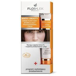 FLOSLEK White & Beauty Krem punktowy wybielający przebarwienia i piegi 20ml