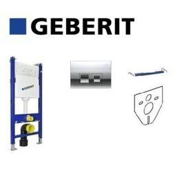 Geberit Duofix Basic Stelaż podtynkowy UP100 przycisk Delta50 chrom Zestaw 4w1 111.153.00.1+111.813.00.1+115.135.21.1