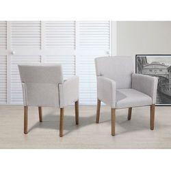 Krzeslo do jadalni, kuchni jasnoszary - fotel tapicerowany - ROCKEFELLER