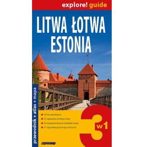 Litwa, Łotwa, Estonia. Przewodnik + Atlas + Mapa (opr. miękka)