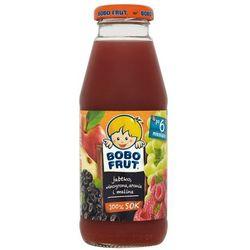 BOBO FRUT 300ml 100% Sok jabłko, malina, winogron, aronia po 6 miesiąc