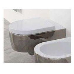 Miska wisząca WC Flaminia Link 56 x 36 x 20 cm, czarna na zewnątrz/biała wewnątrz, zdobienie 5051/WC czarny/biały + zdobienie
