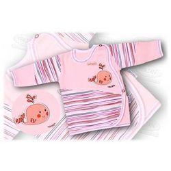 Kaftanik niemowlęcy zapinany z boku Aqua 56-62 różowy