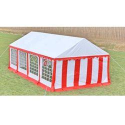 vidaXL Pawilon ogrodowy 8x4m (dach+penele boczne), czerwono-biały Darmowa wysyłka i zwroty