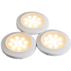 Zestaw 3 spotów Cabinet LED biały